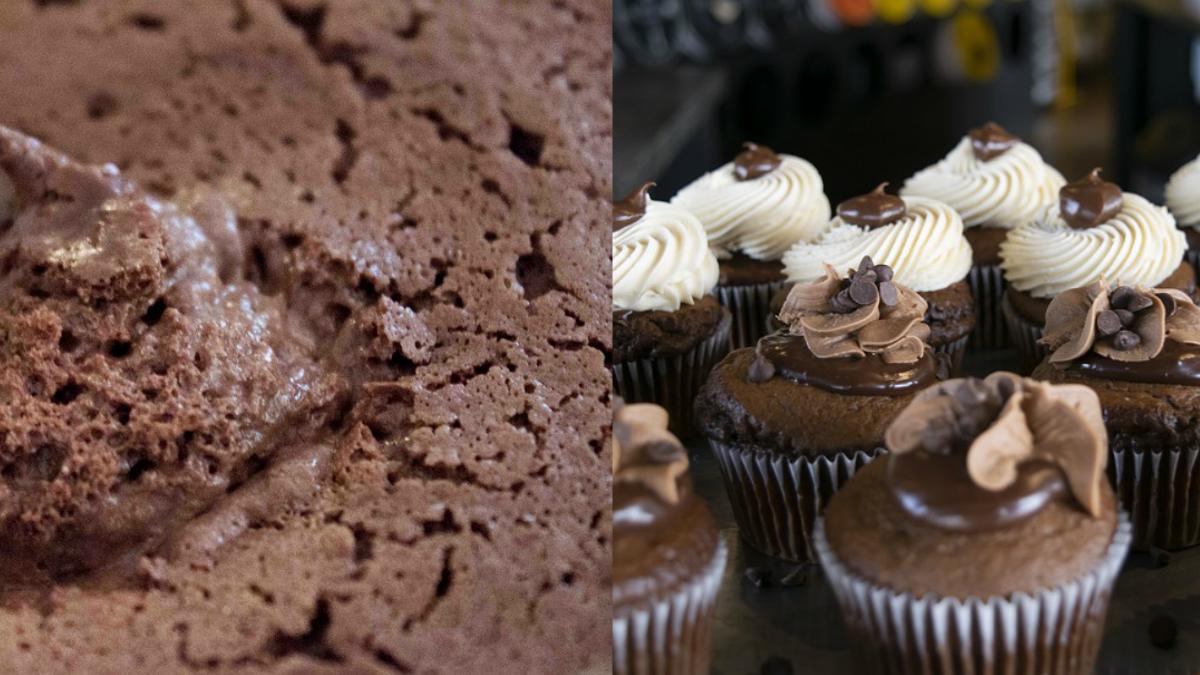 Mousse de 3 Chocolates y Cupcakes